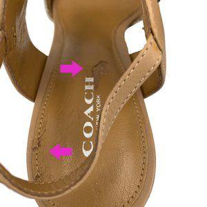 Coach Shoes - COACH Garland Nude Print Snake/Matte Calf Heel